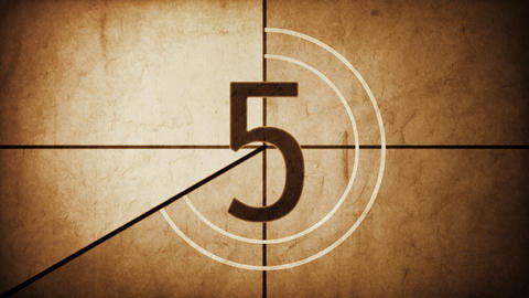Countdown Leader Grunge HD stock footage