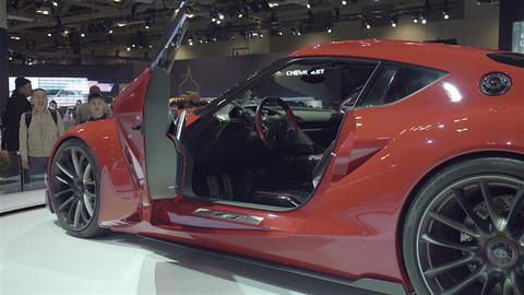 Toyota FT1 Supercar Interior stock footage