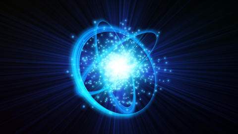 Glowing Blue Sphere stock footage