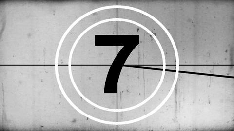 Countdown Black and White Animation