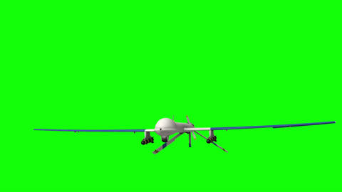 Military Drone. Green screen Animation