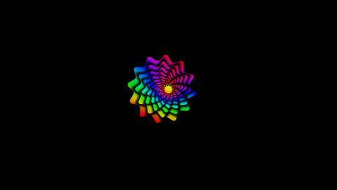 Rotating color flowers (stars) Stock Video Footage