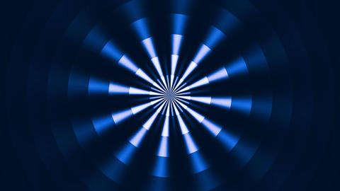 Rotating circles and rays Animation