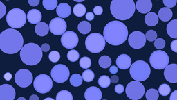Rotating blue full-spheres Animation