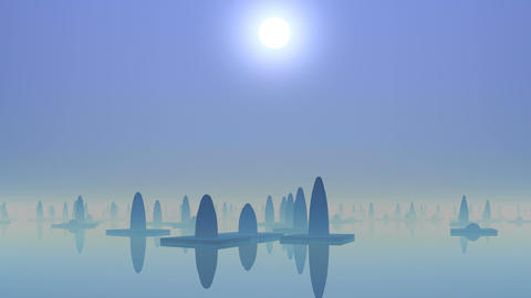 Water city of aliens Animation