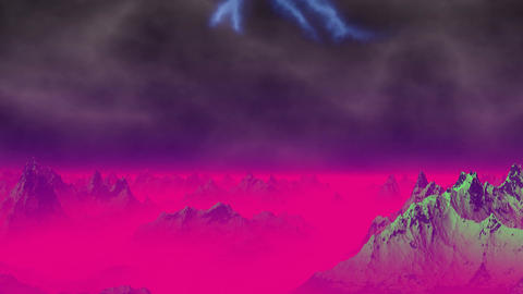 Lightning on a fantastic planet Stock Video Footage