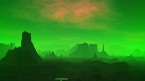 Fantastic planet. Green fog Stock Video Footage