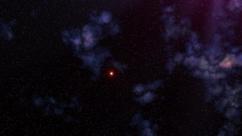 The star sky. Clouds. UFO Stock Video Footage