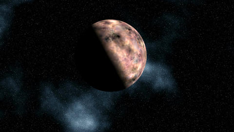 The planet (moon) in the star sky Stock Video Footage
