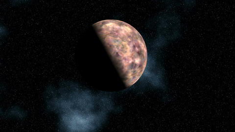 The planet (moon) in the star sky Animation