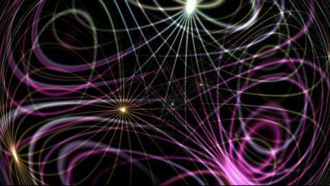 Flowing dynamic abstract lines,tech energy... Stock Video Footage