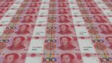 Printing Money Animation,100 RMB Bills stock footage