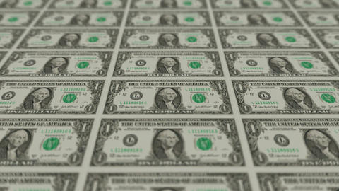 Printing Money Animation,1 dollar bills Stock Video Footage