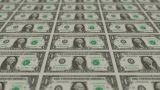 Printing Money Animation,1 Dollar Bills stock footage