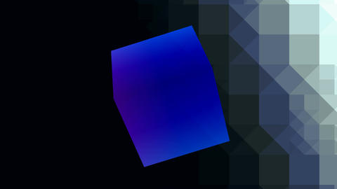 Blue shone cube Stock Video Footage