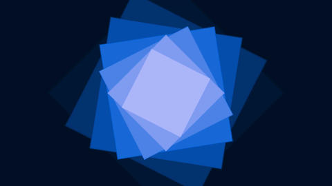 Rotating blue squares Animation