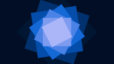 Rotating blue squares Stock Video Footage