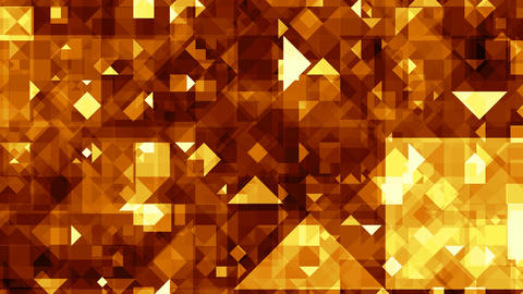 Gold (yellow) crystals Animation