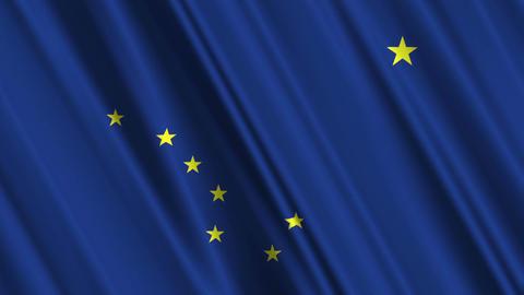 Alaska Flag Loop 01 Animation