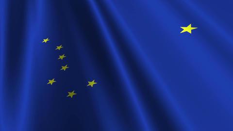 Alaska Flag Loop 03 Animation