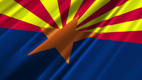 Arizona Flag Loop 02 Stock Video Footage