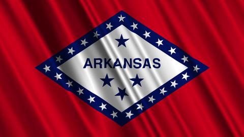 Arkansas Flag Loop 01 Stock Video Footage