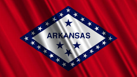 Arkansas Flag Loop 01 Stock Video Footage