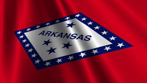 Arkansas Flag Loop 03 Animation