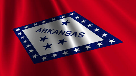 Arkansas Flag Loop 03 Stock Video Footage