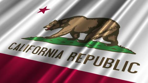 California Flag Loop 02 Stock Video Footage