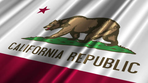 California Flag Loop 02 Animation