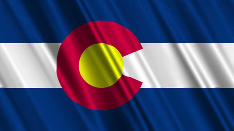 Colorado Flag Loop 01 Stock Video Footage