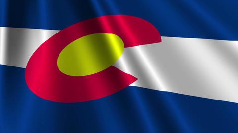 Colorado Flag Loop 03 Stock Video Footage