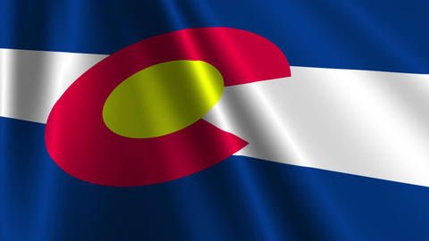 Colorado Flag Loop 03 Stock Video Footage
