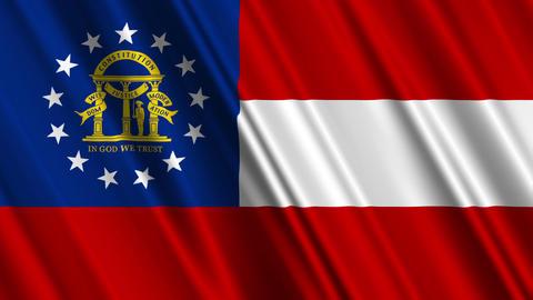Georgia USstate Flag Loop 01 Stock Video Footage