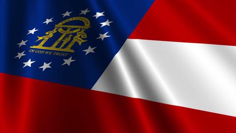 Georgia USstate Flag Loop 03 Stock Video Footage