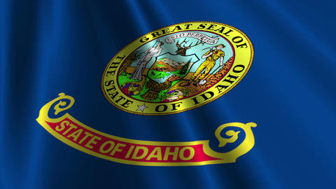 Idaho Flag Loop 03 Animation