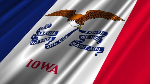 Iowa Flag Loop 02 Stock Video Footage