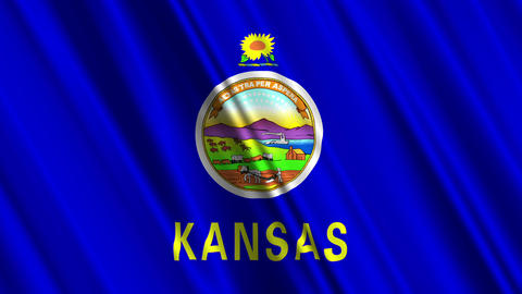 Kansas Flag Loop 01 Animation