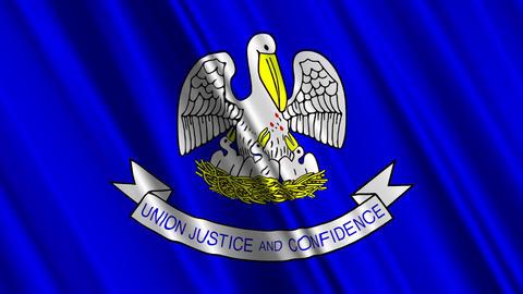 Louisiana Flag Loop 01 Animation
