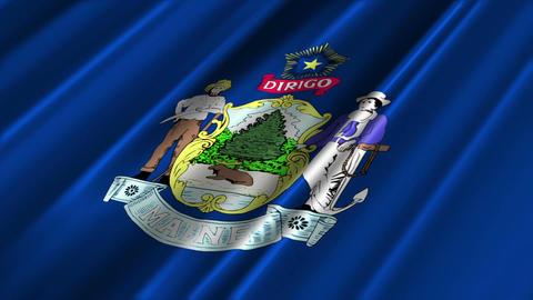 Maine Flag Loop 02 Stock Video Footage