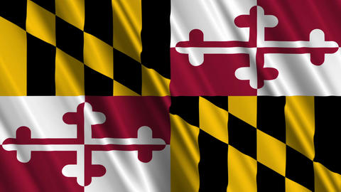 Maryland Flag Loop 01 Animation