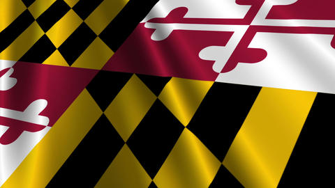 Maryland Flag Loop 03 Stock Video Footage