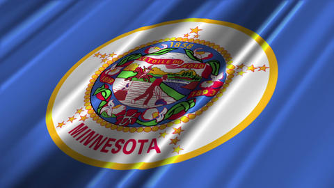 Minnesota Flag Loop 02 Animation