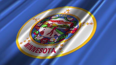 Minnesota Flag Loop 02 Animation