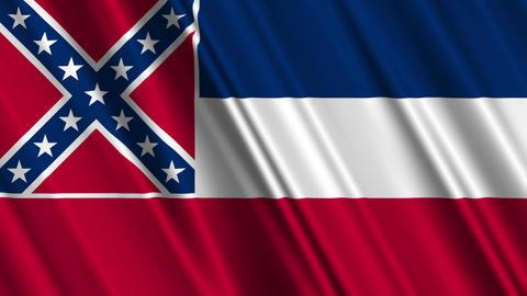 Mississippi Flag Loop 01 Stock Video Footage