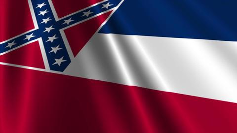 Mississippi Flag Loop 03 Stock Video Footage