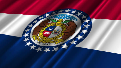 Missouri Flag Loop 02 Stock Video Footage