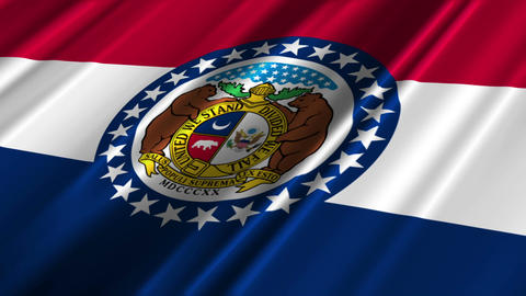 Missouri Flag Loop 02 Animation