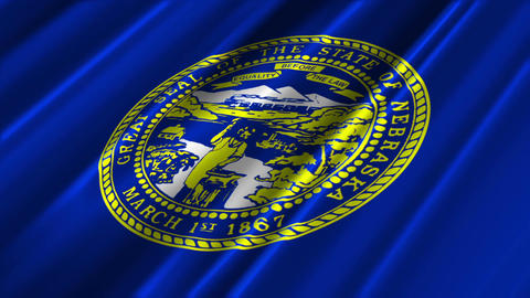 Nebraska Flag Loop 02 Stock Video Footage
